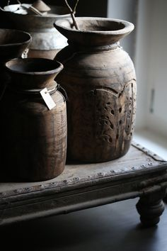 Hand Carved Himalayan vessels~Visit our Showroom to see how we can incorporate them into your living Space!