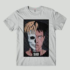 78847f8678 camisa xxxtentacion rapper americano sad camiseta sadboy branca