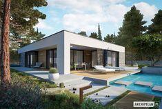 EX 21 soft - projekt domu - Archipelag House Layout Plans, House Layouts, Beautiful House Plans, Beautiful Homes, Facade Design, Architecture Design, Residential Building Plan, Modern Small House Design, Casa Loft