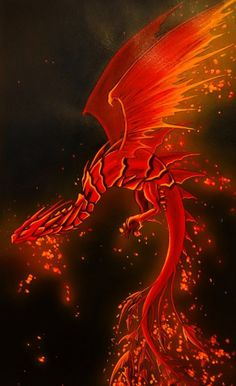 Dragon de Feu | Red dragon, fantasy art
