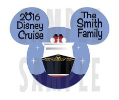 PRINTABLE Disney Cruise Door Magnet or Iron-On by TiffanyandGirls