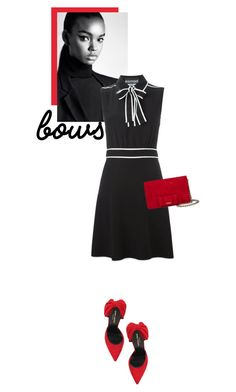 """#bows"" by hajni0103 ❤ liked on Polyvore featuring Yves Saint Laurent, Miu Miu and bows"