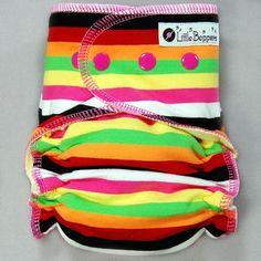 Cloth Diaper AI2 Hidden-PUL Medium Long Cloth by LittleBoppers