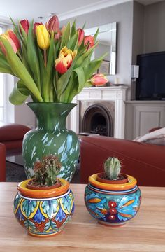 Eugenio Ricciarelli planters are ideal for small cactuses