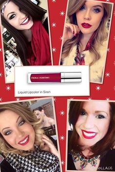 Merle girls of Orange & Bridge City are obsessed with SIREN lip color! The perfect red for any skin tone #redlips #makeupartist #merlenorman