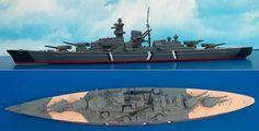 """Schlachtschiff """"Bismarck"""" der Bismarck-Klasse (Minic M 742) 1:1250"""