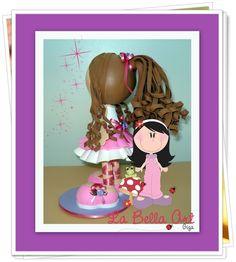 Essa menina, tão pequenina, quer ser bailarina...                                                                         (Cecília Meireles)    Olha que fofa essa bailarina!!!   Ideal para decoração de quartos, centro de mesas, topo do bolo, lembrancinha de aniversário; e o que mais a sua ima...