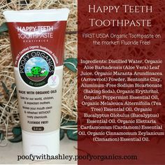 Poofy Organics USDA Certified Organic Toothpaste poofywithashley.poofyorganics.com