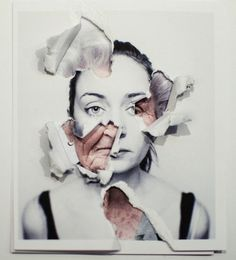 ripping to reveal what's hidden beneath... Interesting idea for a final piece involving mental illnesses or feelings: