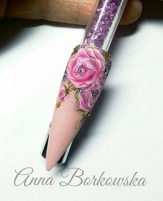 by Indigo Educator Anna Borkowska - Follow us on Pinterest. Find more inspiration at www.indigo-nails.com #nailart #nails #indigo #flower