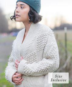 Lace Patterns, Knitting Patterns, Knitting Projects, Bobble Crochet, Brooklyn Tweed, Cardigan Pattern, Stockinette, Garter Stitch, Wool Yarn