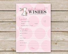Printable Pink Elephant Baby Shower Baby Predictions & Wishes for Baby  ♥ Baby Predictions & Wishes for Baby This is a fun activity to send the new little baby some love and fun for the mama-to-be to see who was closest to predicting about the babys arrival! W H A T ⋆ Y O U ' L L ⋆ R E C E I V E ________________________________________________ 1 PDF file: - Game Cards - each game card is 5x7 inches (2 per 8.5x11 page) **This listing is for a digital file ONLY. Which means no physical ...