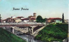 Panorama del paese con il ponte nuovo in primo piano.