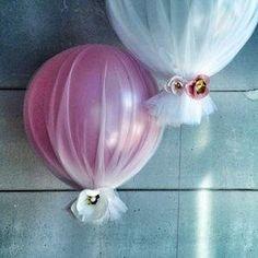 Decorated helium balloons