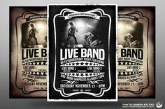 Live Concert Flyer Template V1 by Thats Design Studio on @creativemarket