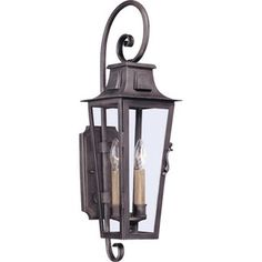 Troy Lighting TB2962 French Quarter Entrance Outdoor Wall Light - Aged Pewter