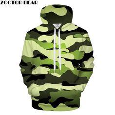8359c9cff3e Pea Green Camo 3D Print Hoodies Men Women Casual Hoody Boy Sweatshirt  supreme Tracksuit Pullover GrootCoat Dropship ZOOTOPBEAR