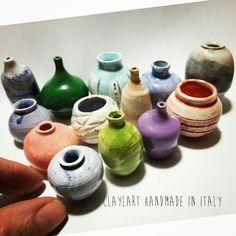 Miniature in ceramica modellate al tornio