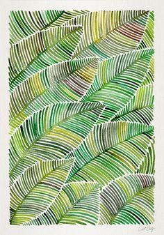 Cat Coquillette - Tropical Green Art Print