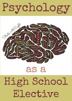 Psychology high school subjects
