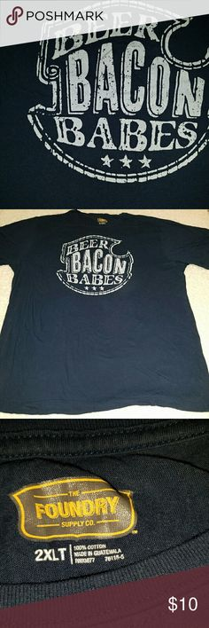 """Beer Bacon Babes t shirt Dark blue Beer Bacon Babes t shirt size 2xl arm pit to arm pit 27"""" shoulder to hem 33"""" the foundry  Shirts Tees - Short Sleeve"""