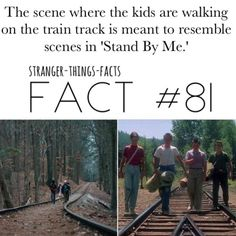 films Stand By Me has way more inspirations too Stranger Things Quote, Stranger Things Steve, Stranger Things Aesthetic, Stranger Things Netflix, 80s Movies, Nerd Geek, Stand By Me, Best Shows Ever, Behind The Scenes