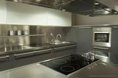 30 metal kitchen cabinets ideas style photos remodel and decor - Stainless Steel Kitchen Cabinets