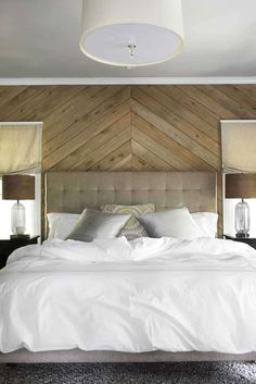 wood installations on bedroom walls - Google Search
