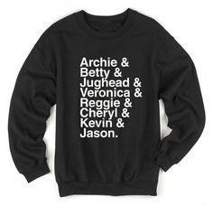 Archie to Jason Riverdale Sweatshirt Riverdale Shirts, Riverdale Cw, Riverdale Veronica, Riverdale Fashion, Green Color Quotes, Grey Sweatshirt, Graphic Sweatshirt, Graphic Tees, Archie And Betty