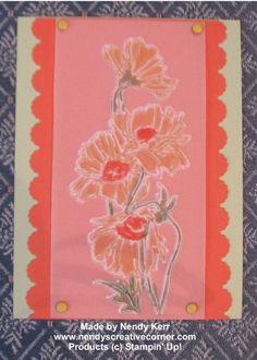 Embossed Vellum Flower Garden Card www.nendyscreativecorner.com