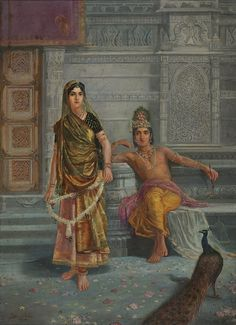 Radha and Krishna by Dhurandhar