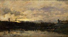 Charles François Daubigny,  Barbizon, 14 1/2 x 22, oil on canvas