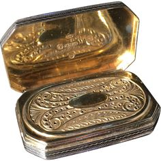 Early Oversized Solid Silver Vinaigrette. 1805 by Wardell & Kempson, Birmingham. Superb.