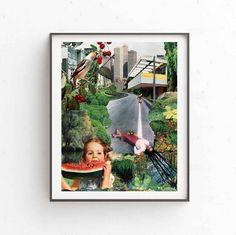 Dream Print, Collage, Art Print, Instant download, Printable, Art download, 3 JPG