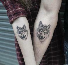 partner tattoo tattoo motive wolf tattoo motive