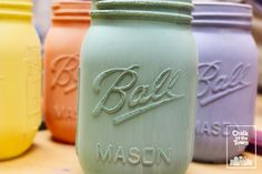 We paint everything with Chalk Of The Town® Paint - and we love Mason Jars! Best Chalk Paint, Mason Jars, Athens, Lab, Projects, Painting, Colors, Ideas, Log Projects