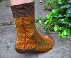 Ravelry: Thistle and Forest Plaid Socks pattern by Lorilee Beltman