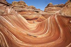 "Geologic phenomenon known as ""The Wave"" in Arizona. Amazing!!"