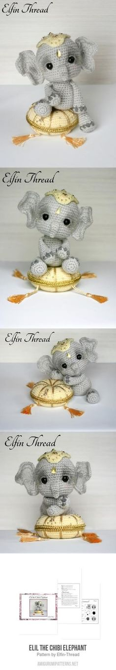 Elil the Chibi Elephant amigurumi pattern