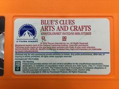 Blue's Clues arts and crafts VHS tapes