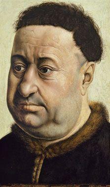 Portrait of a Stout Man. Robert de Masmines (?), by Robert Campin, c. 1425. Museo Thyssen-Bornemisza, Madrid