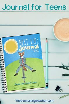 This journal helps kids live their best life by promoting a growth mindset, mindfulness, self-reflection, gratitude and kindness. 40 weeks of activities and 160 pages. High School Counseling, School Counselor, School Teacher, Life Journal, Journal Ideas, Classroom Behavior Management, Social Emotional Learning, Feelings And Emotions, Coping Skills