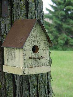 Rustic Birdhouses Around the Yard