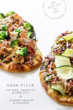 Chicken, Pancetta and Broccoli Naan Pizza @realfoodbydad
