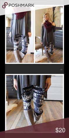 Dark gray-navy tie dye leggings Soft brush knit leggings. 92% polyester 8% spandex. One size fits all! Bundle discount buy 3 items or more get 30% off! Infinity Raine Pants Leggings