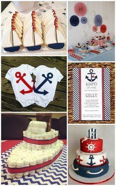 Nautical Baby Shower Ideas from HotRef.com #bauticalbabyshower