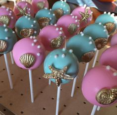under the sea cakepops