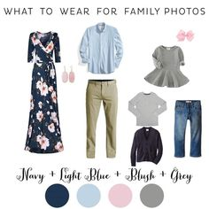 What to Wear for Fall Family Photos Navy and Blush Hillsboro Family Photographer
