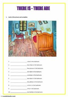 there is there are Idioma: inglés Curso/nivel: grade Asignatura: English as a Second Language (ESL) Tema principal: There is - there are Otros contenidos: English Grammar Worksheets, English Vocabulary, English Exercises, English Lessons For Kids, English Activities, School Subjects, Worksheets For Kids, Teaching English, 3d Printing