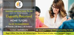 Looking for Highly qualified, experienced & Professional faculties. Home Tuition for CBSE, ICSE and STATE students. For all subjects including Sanskrit and German. 👉If interested must apply for Part time job specially for Housewives, PG Students, Retired Tutors, Professionals, etc... Education is must. please call on given number ...8888882670 👉Batch size is restricted to 20 👉Professor's support till the last minute before examination. 👉Throughout guidance for preparation for… Home Tutors, Part Time Jobs, Sanskrit, Study Materials, Learning Centers, Professor, German, Workshop, Students